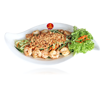Foto Goi Tom Nuong| Grilled Prawn Lotus Salad